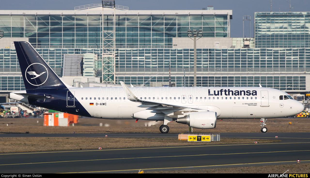Lufthansa D-AIWC aircraft at Frankfurt