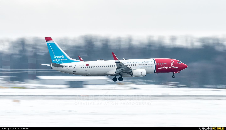 Norwegian Air Shuttle LN-NGE aircraft at Kraków - John Paul II Intl