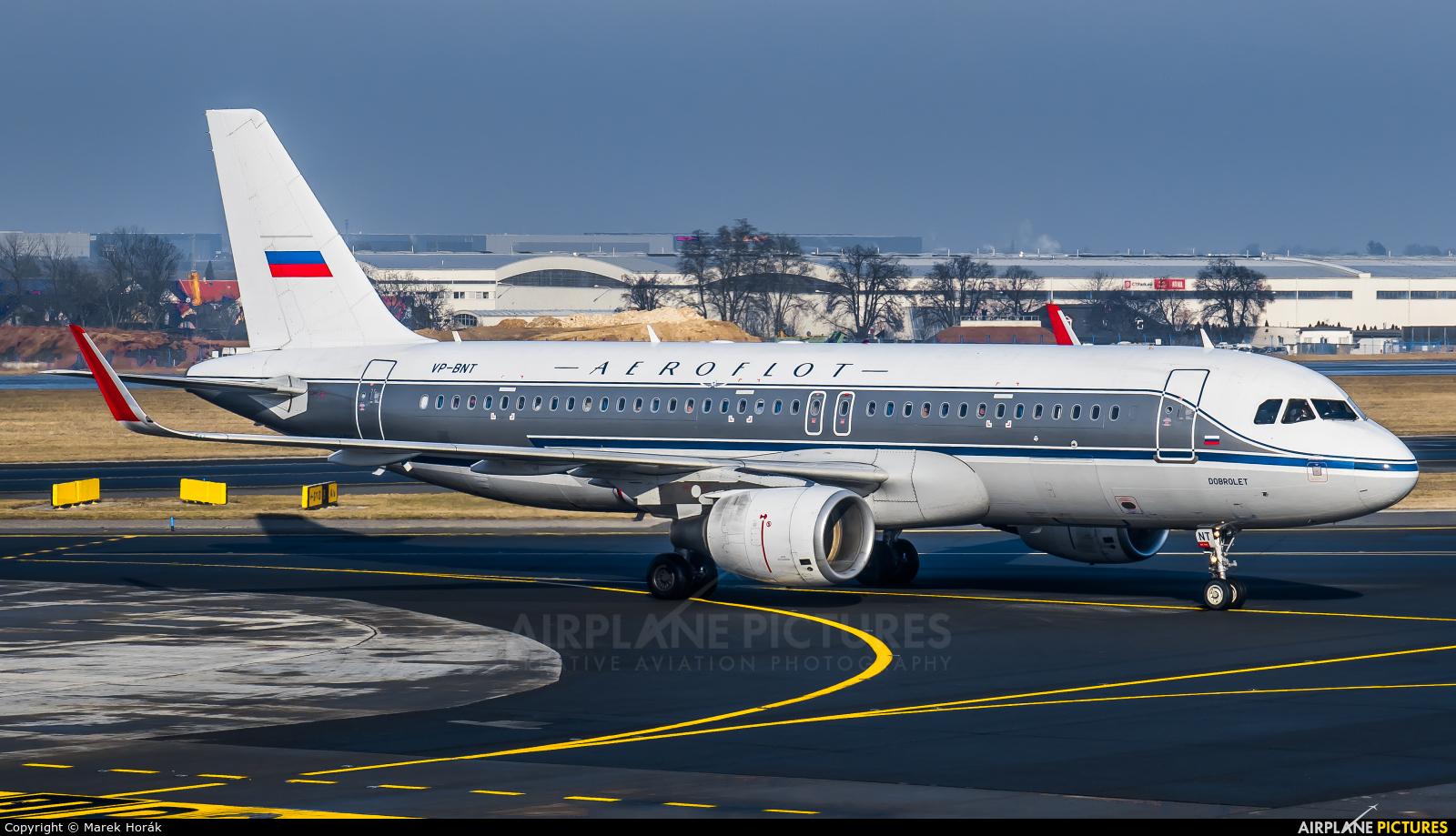 Aeroflot VP-BNT aircraft at Prague - Václav Havel