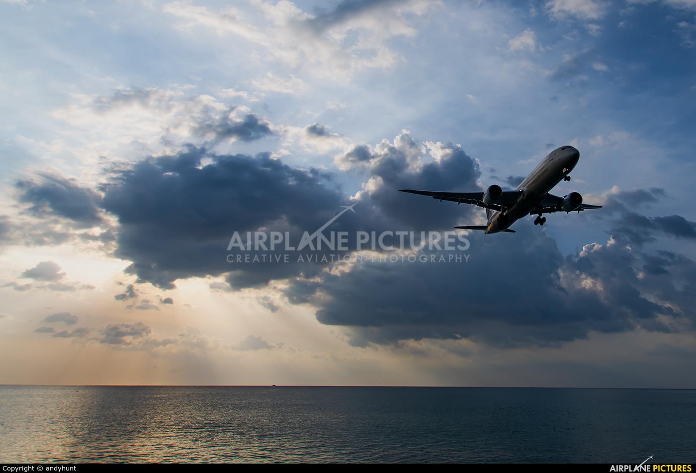 Etihad Airways A6-BLN aircraft at Phuket