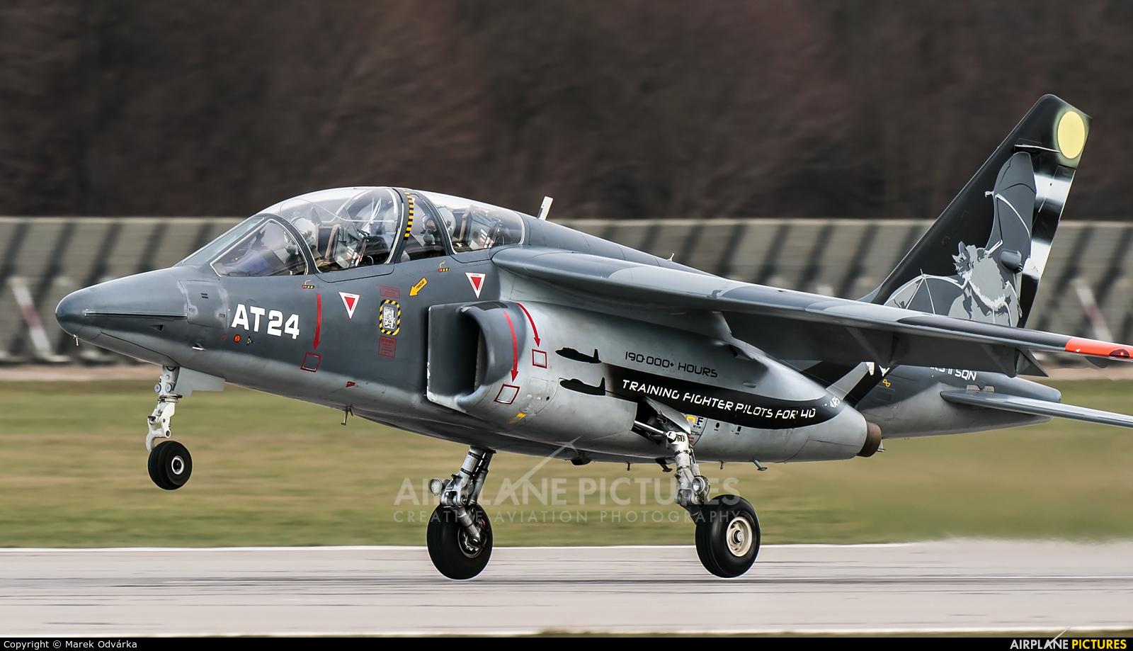 Belgium - Air Force AT24 aircraft at Pardubice