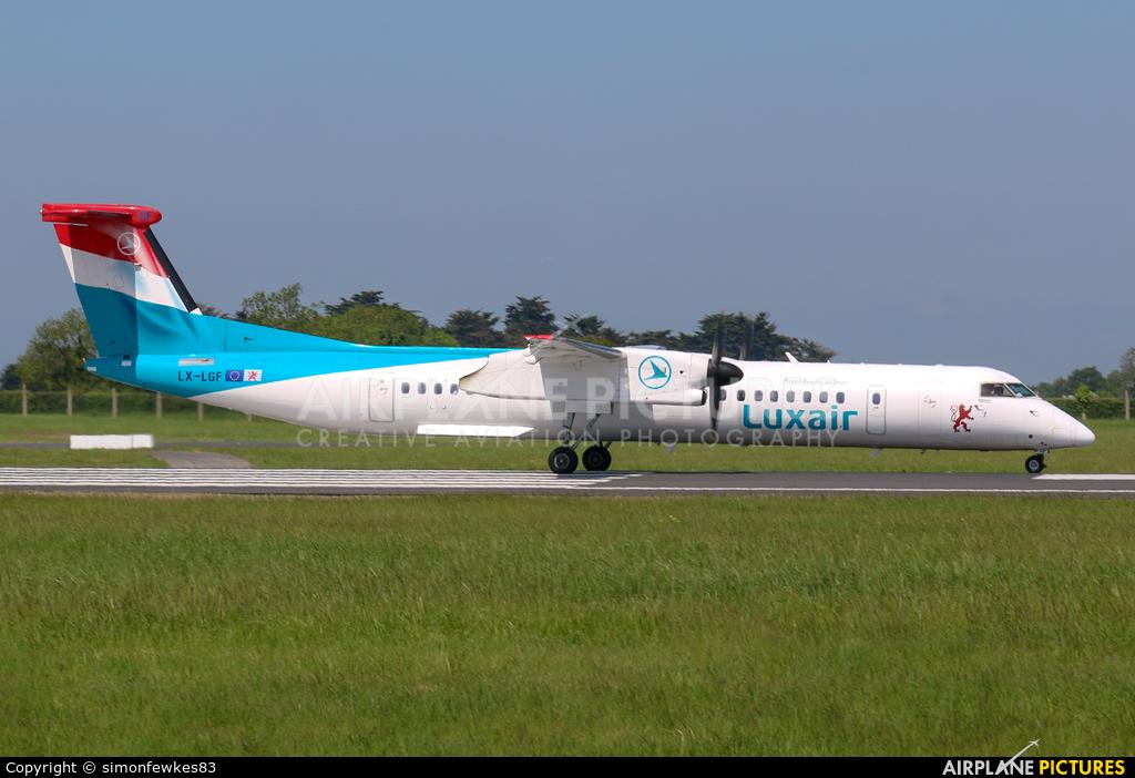 Luxair LX-LGF aircraft at Dublin