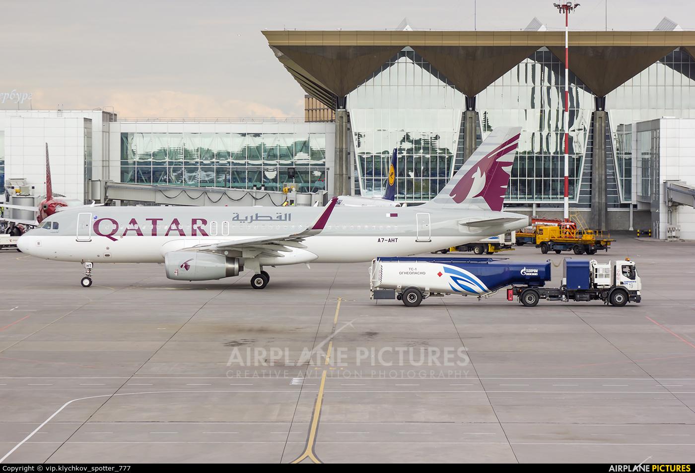 Qatar Airways A7-AHT aircraft at St. Petersburg - Pulkovo