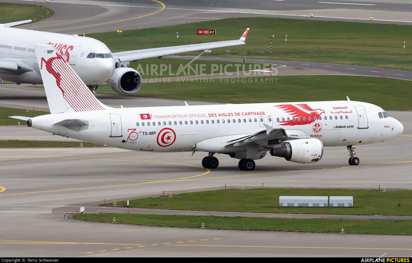 Tunisair TS-IMP aircraft at Zurich