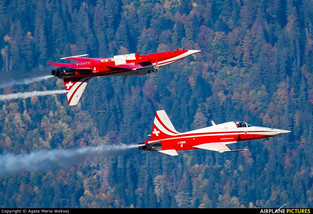 Switzerland - Air Force J-3088 aircraft at Axalp - Ebenfluh Range