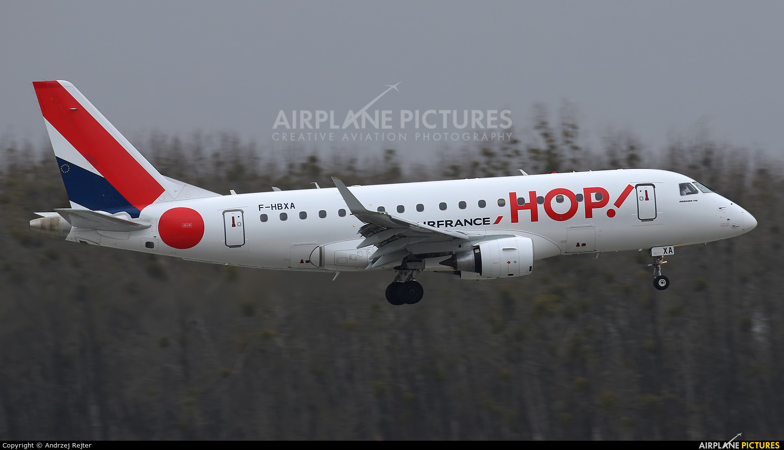 Air France - Hop! F-HBXA aircraft at Wrocław - Copernicus