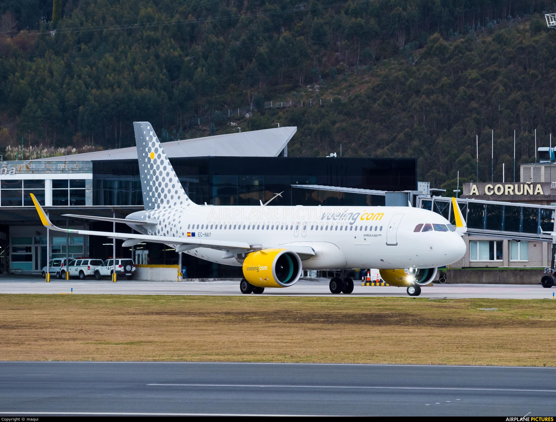 Vueling Airlines EC-NAY aircraft at La Coruña