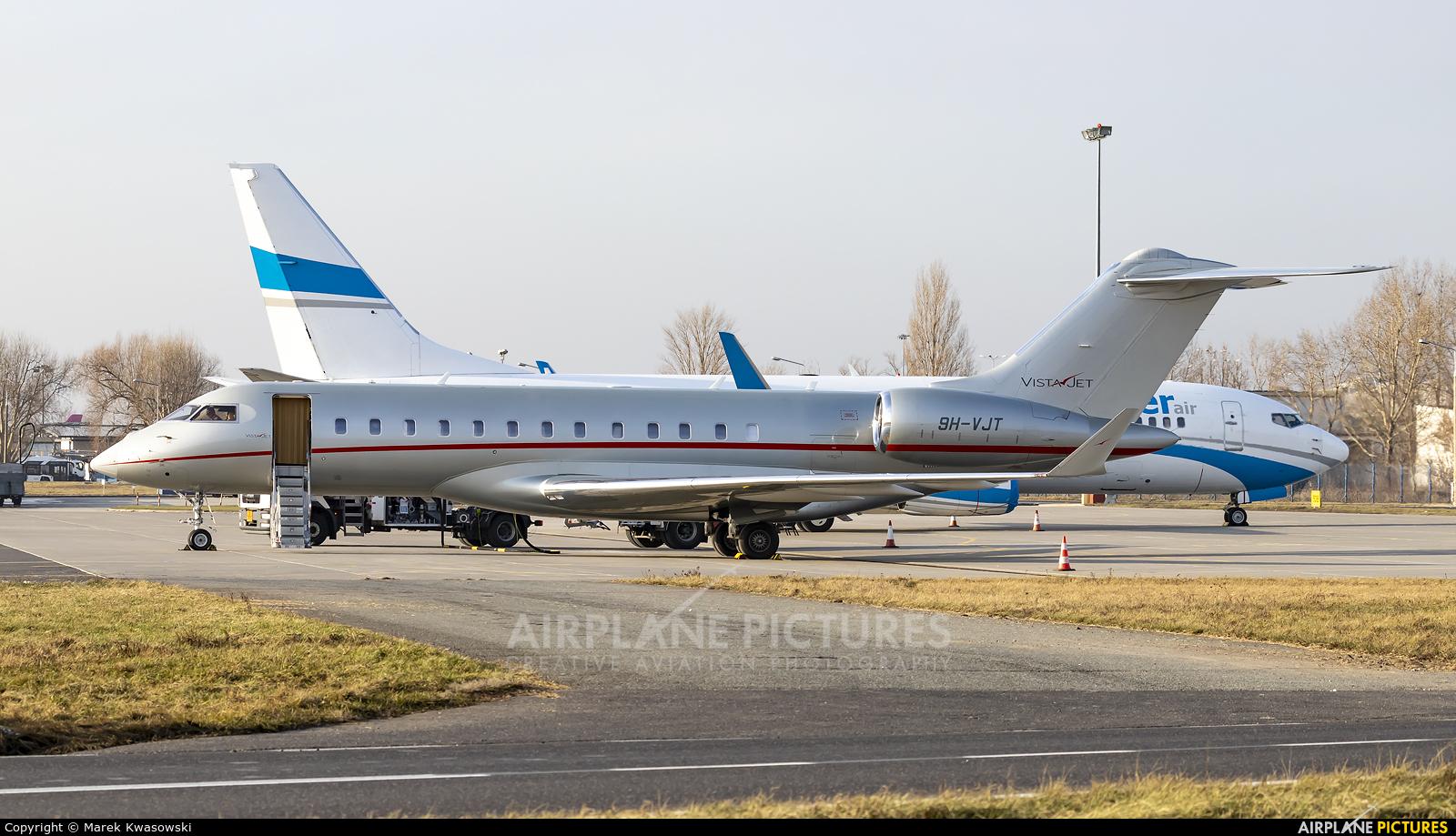 Vistajet 9H-VJT aircraft at Warsaw - Frederic Chopin