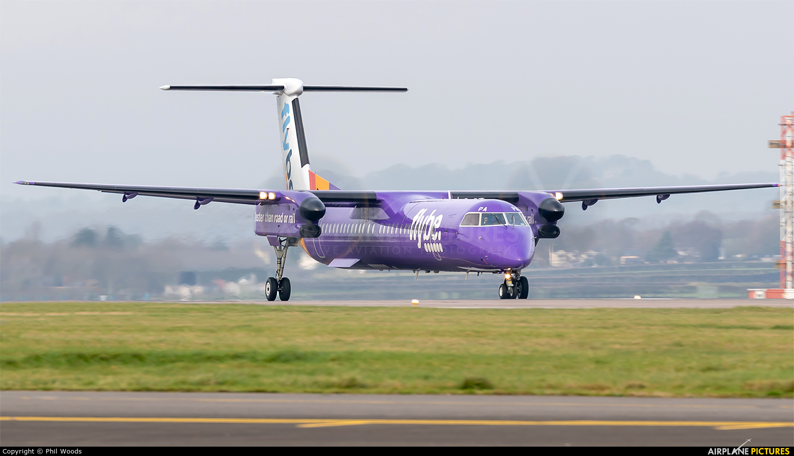 Flybe G-PRPA aircraft at Cardiff