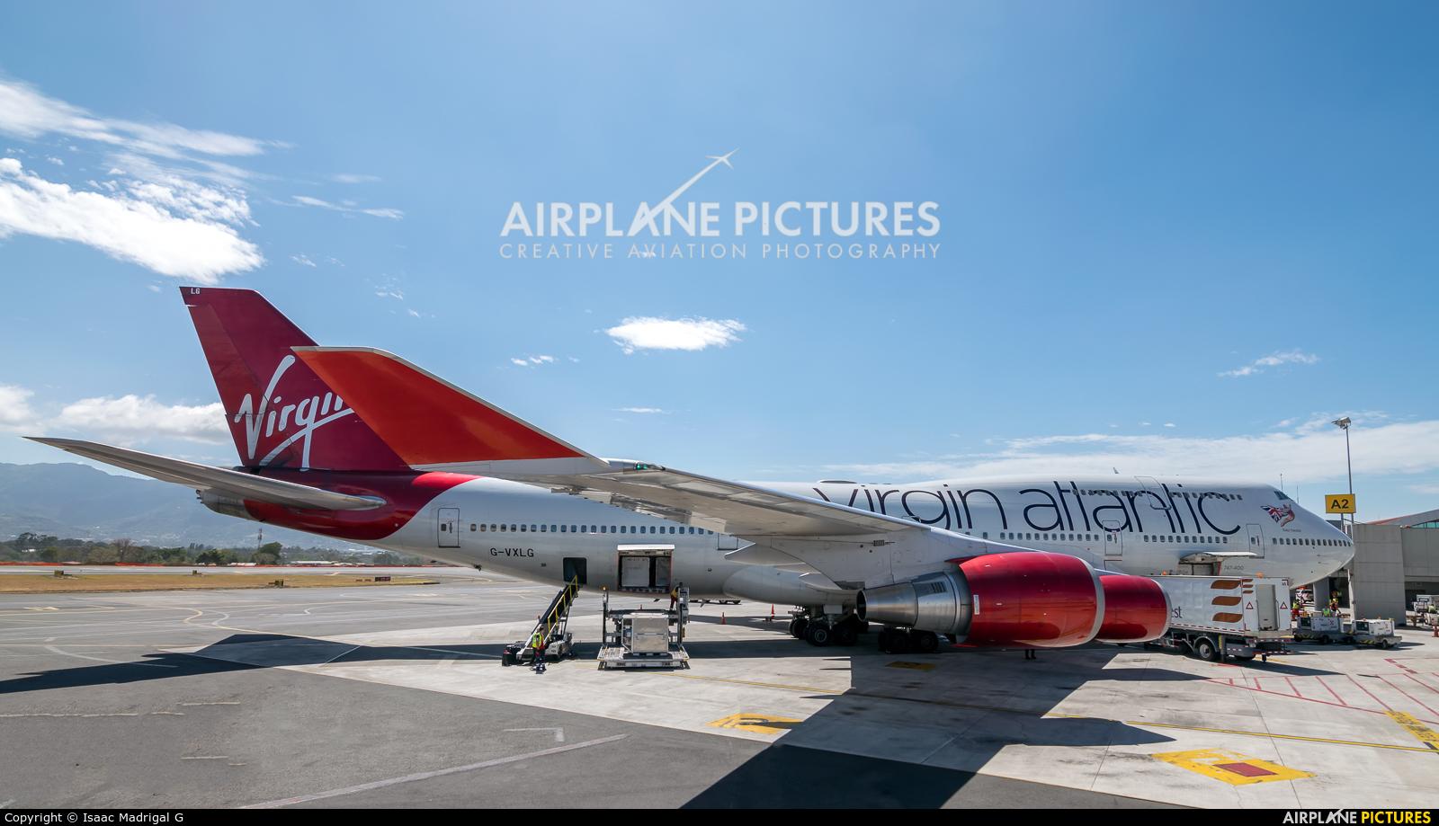 Virgin Atlantic G-VXLG aircraft at San Jose - Juan Santamaría Intl