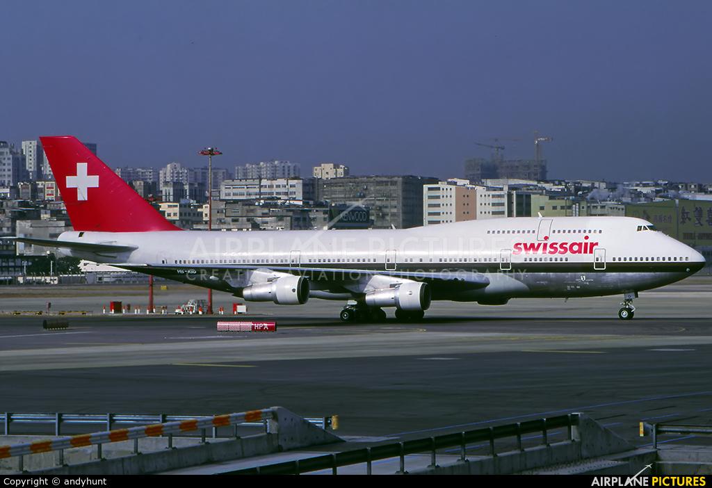 Swissair HB-IGD aircraft at HKG - Kai Tak Intl CLOSED