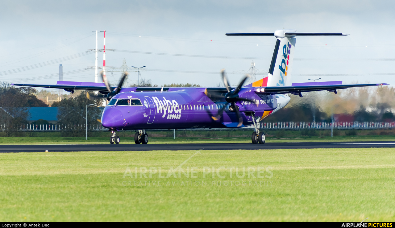 Flybe G-JEDP aircraft at Amsterdam - Schiphol
