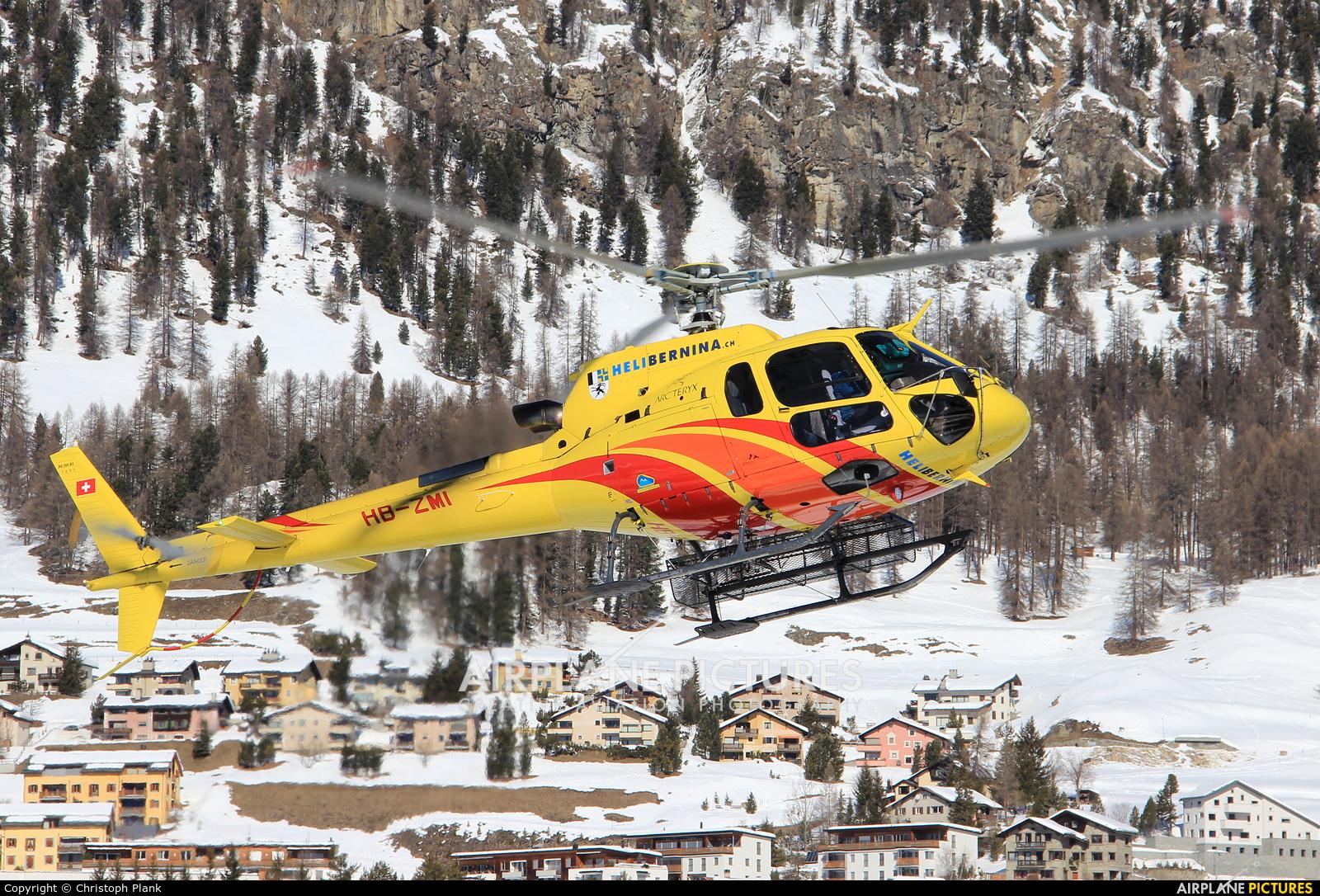 Heli Bernina HB-ZMI aircraft at Samedan - Engadin