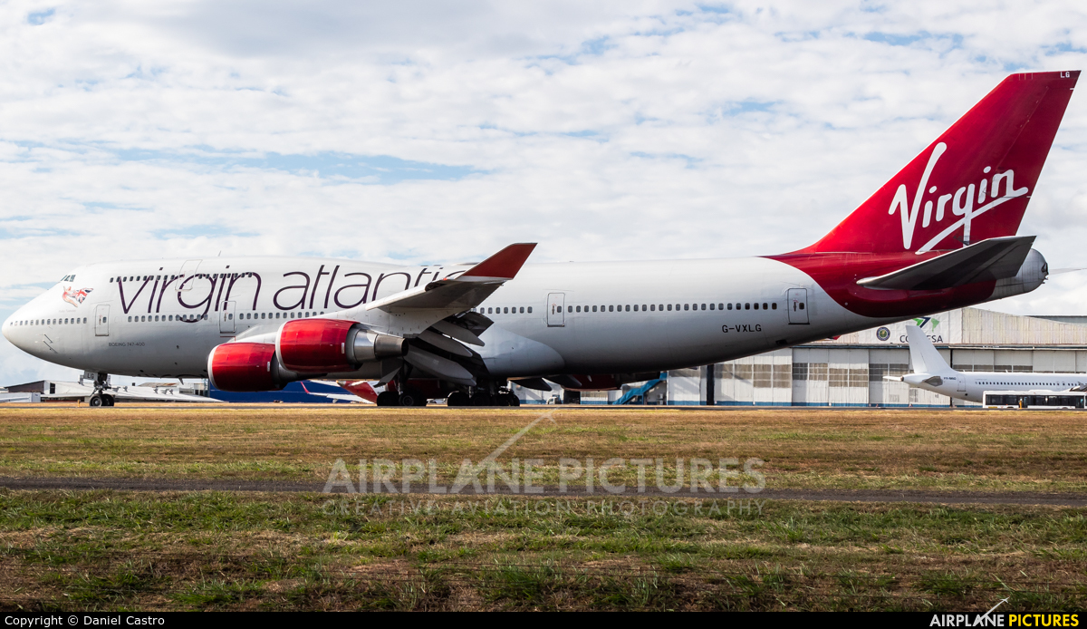 Virgin Atlantic G-VXLG aircraft at San Jose - Juan Santamaría Intl