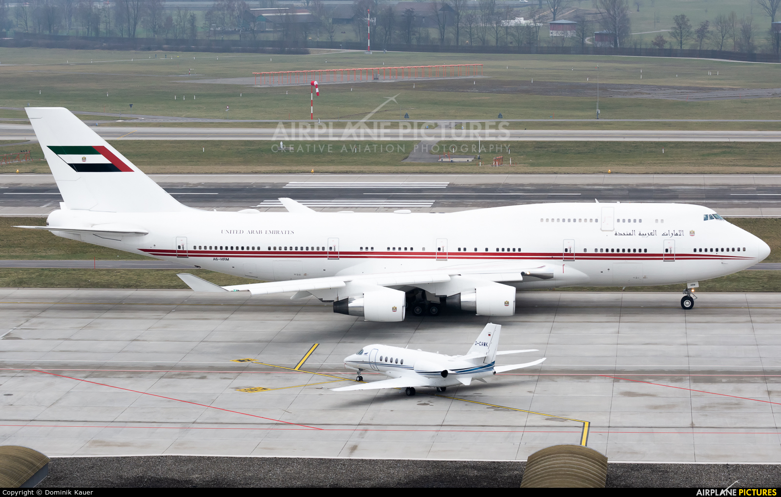 United Arab Emirates - Government A6-HRM aircraft at Zurich