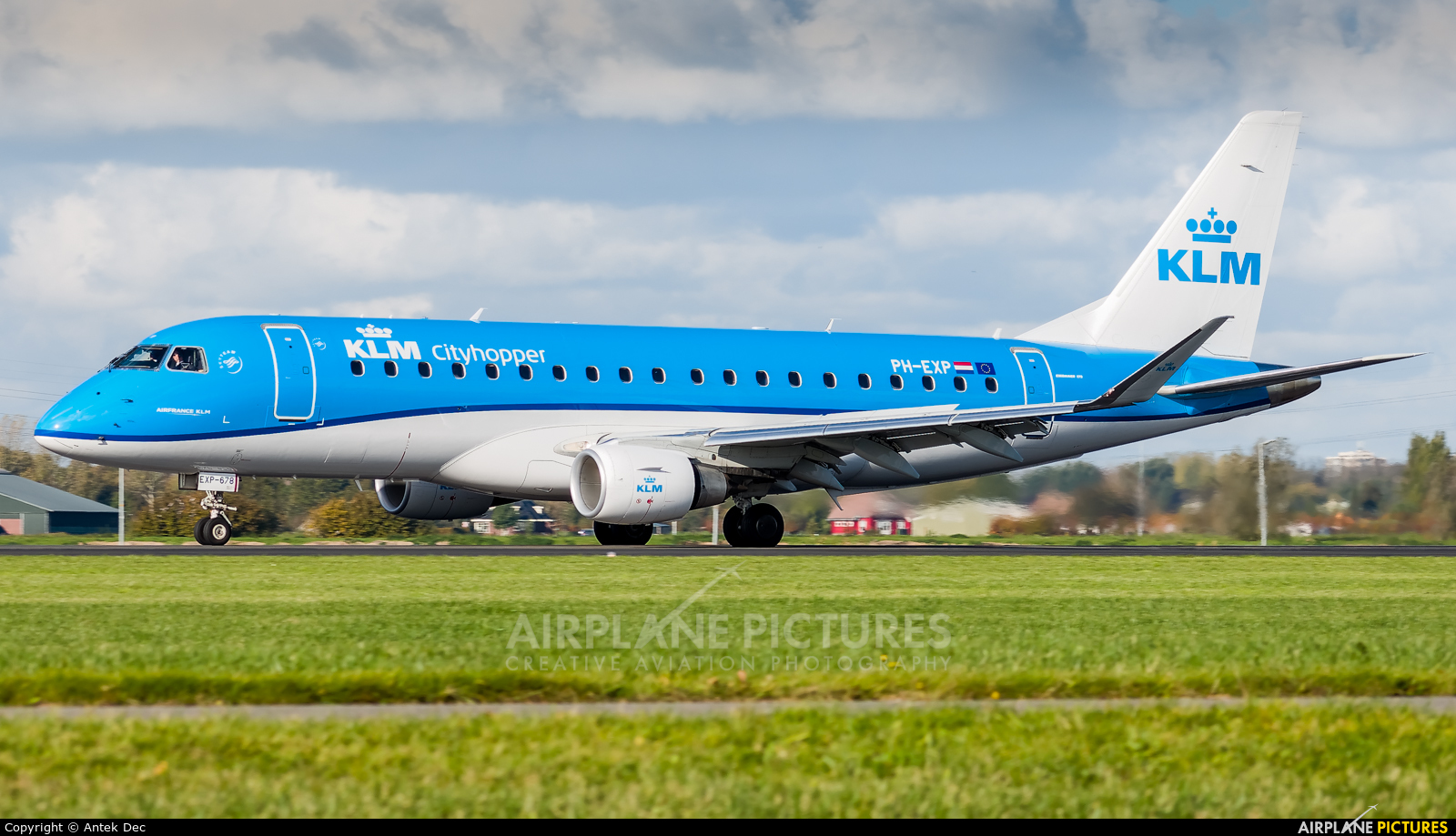KLM Cityhopper PH-EXP aircraft at Amsterdam - Schiphol