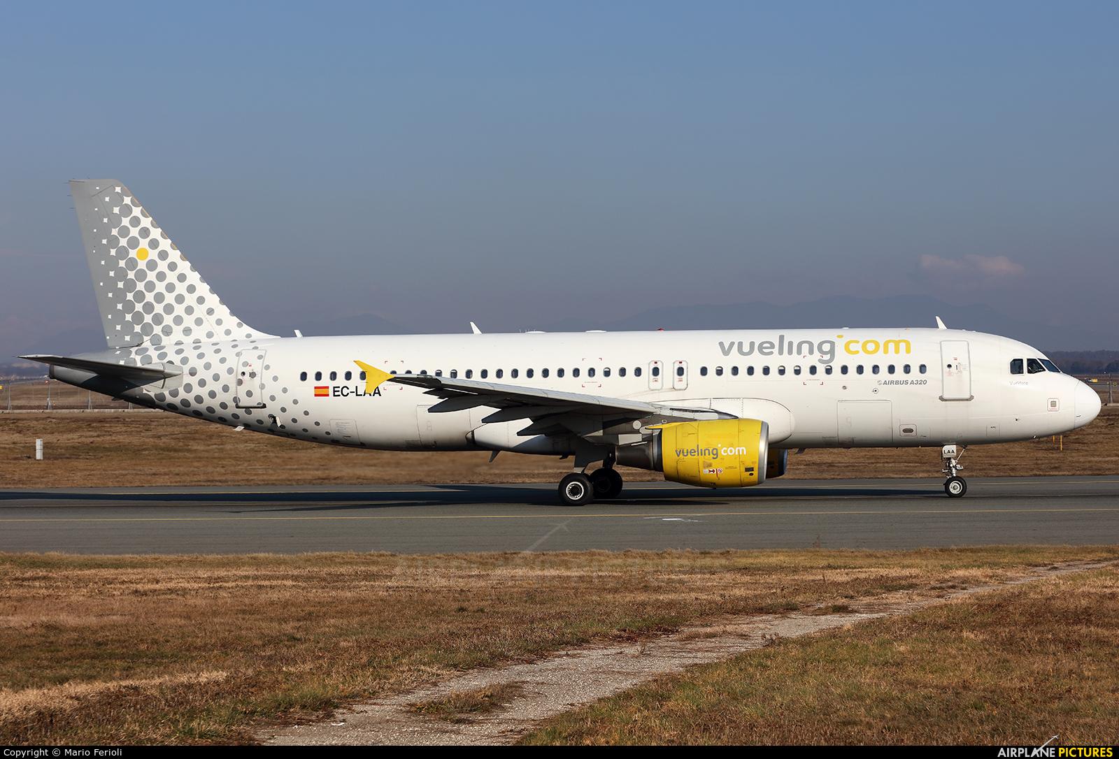Vueling Airlines EC-LAA aircraft at Milan - Malpensa