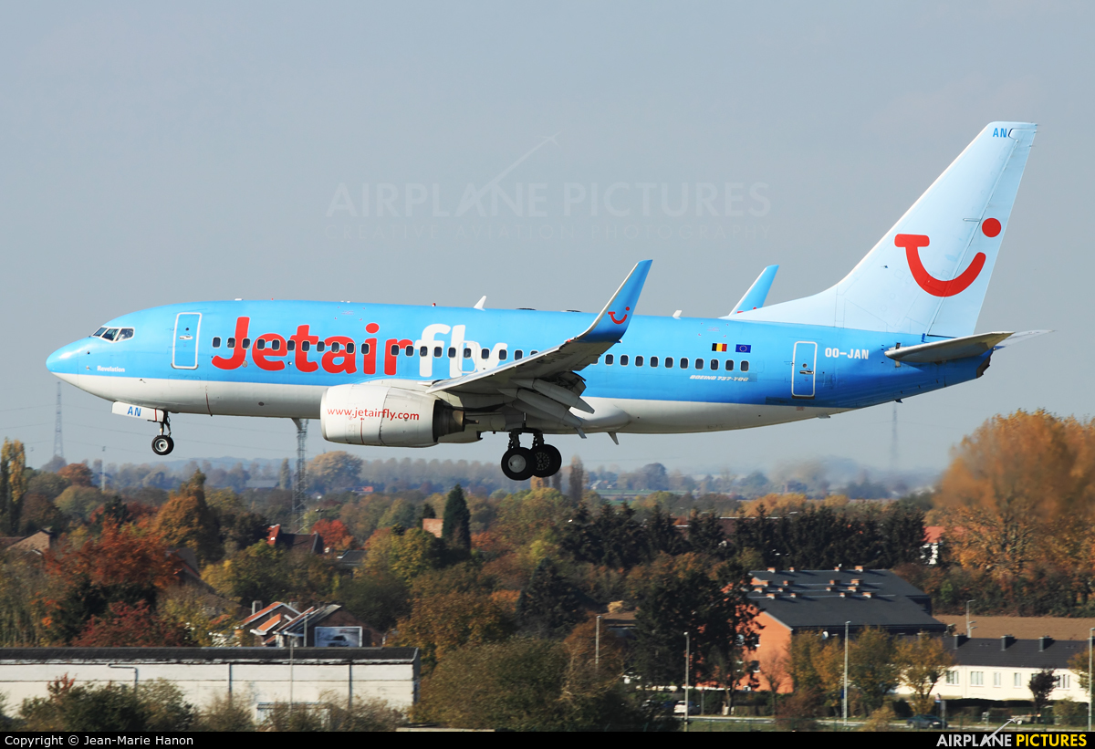 Jetairfly (TUI Airlines Belgium) OO-JAN aircraft at Liège-Bierset