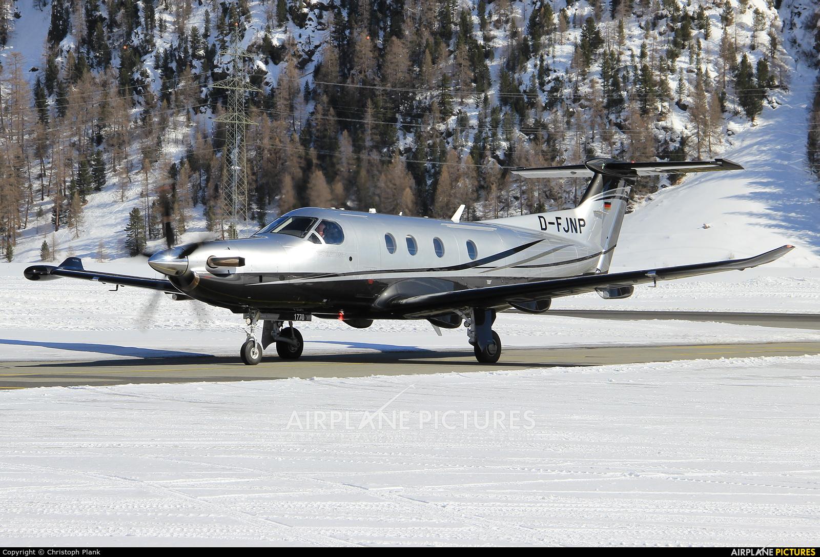 Private D-FJNP aircraft at Samedan - Engadin