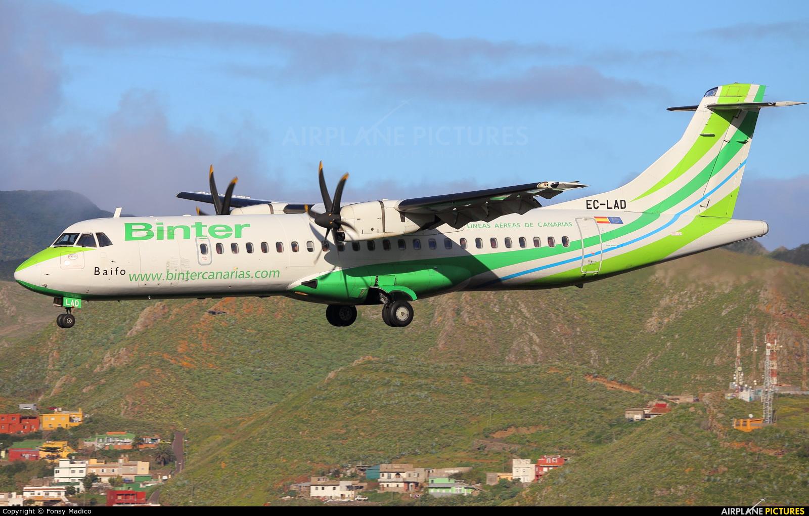Binter Canarias EC-LAD aircraft at Tenerife Norte - Los Rodeos