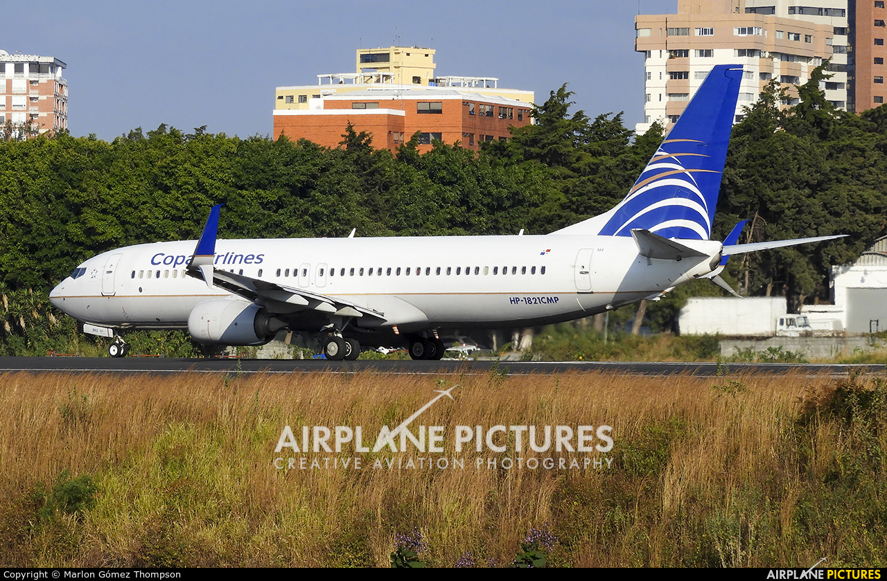 Copa Airlines HP-1821CMP aircraft at Guatemala - La Aurora