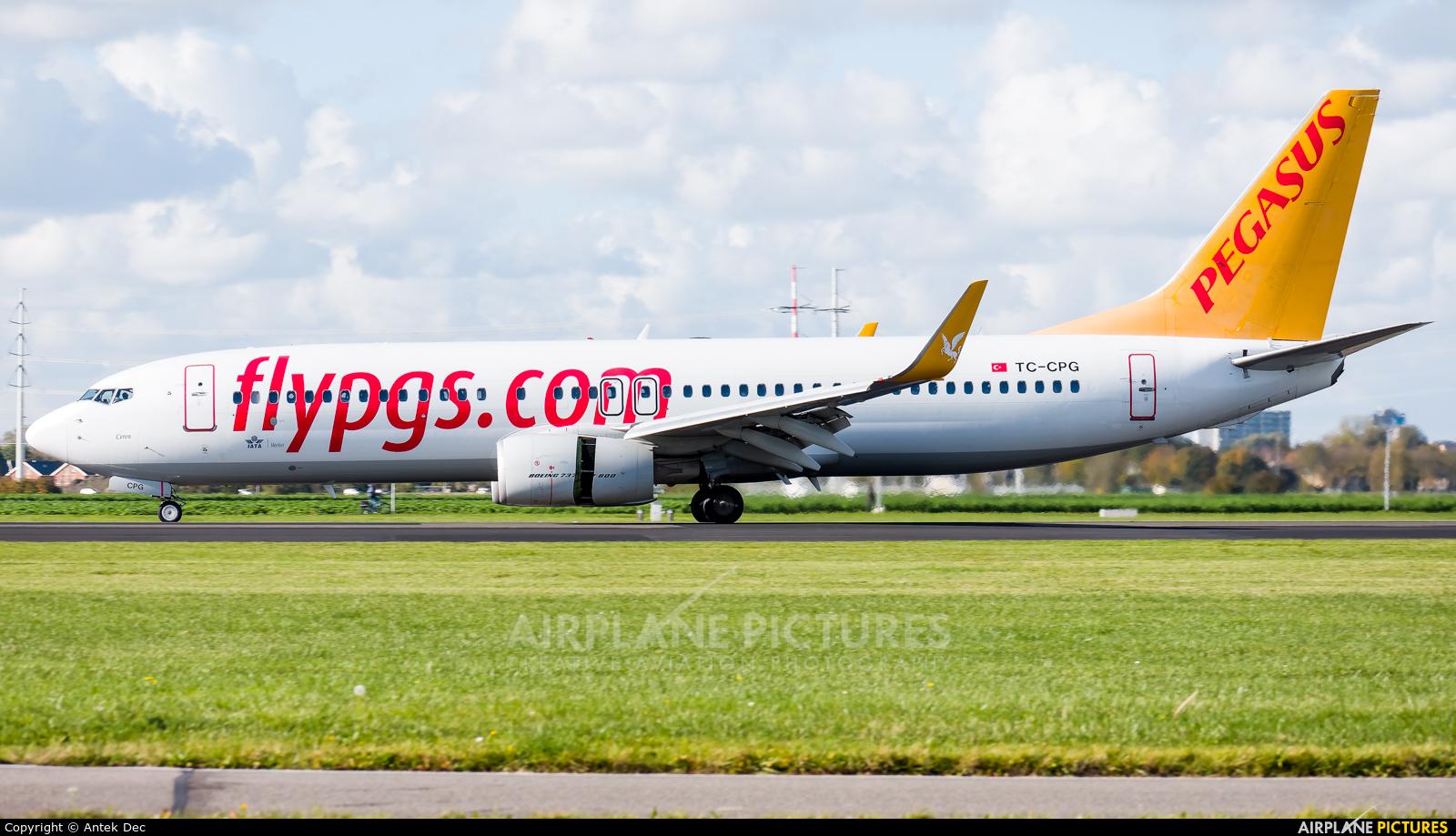 Pegasus TC-CPG aircraft at Amsterdam - Schiphol