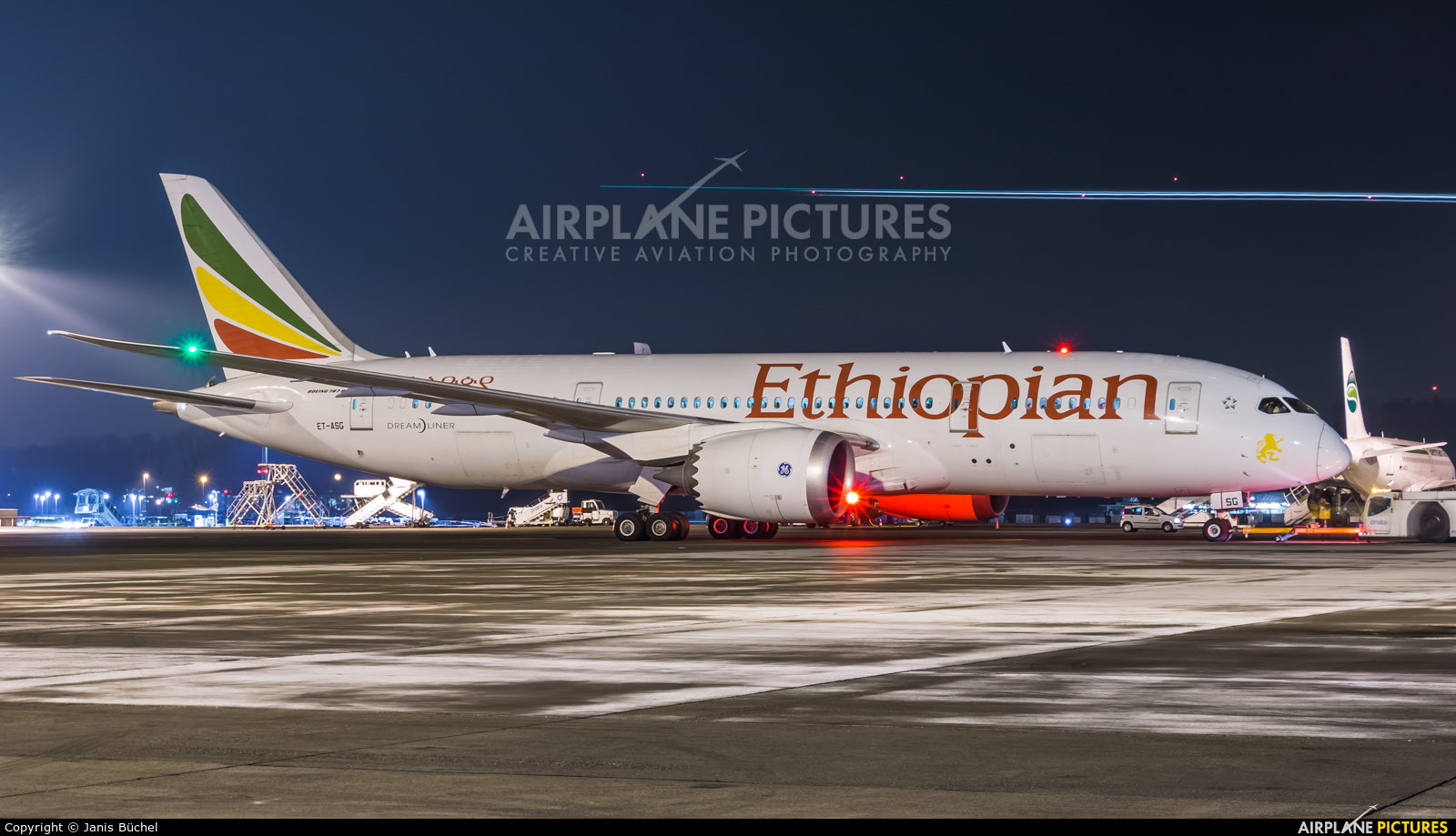 Ethiopian Airlines ET-ASG aircraft at Zurich
