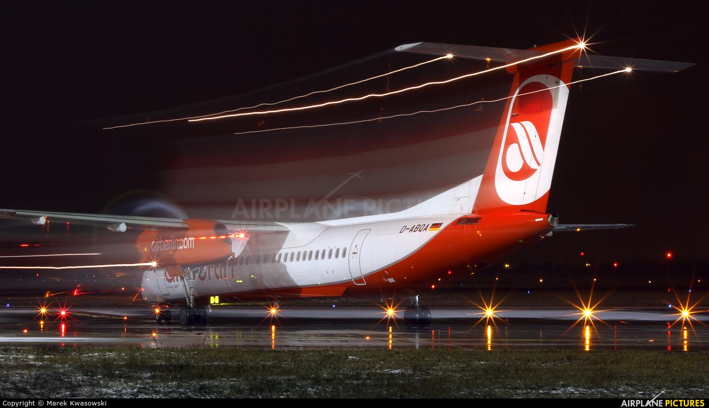 Air Berlin D-ABQA aircraft at Warsaw - Frederic Chopin
