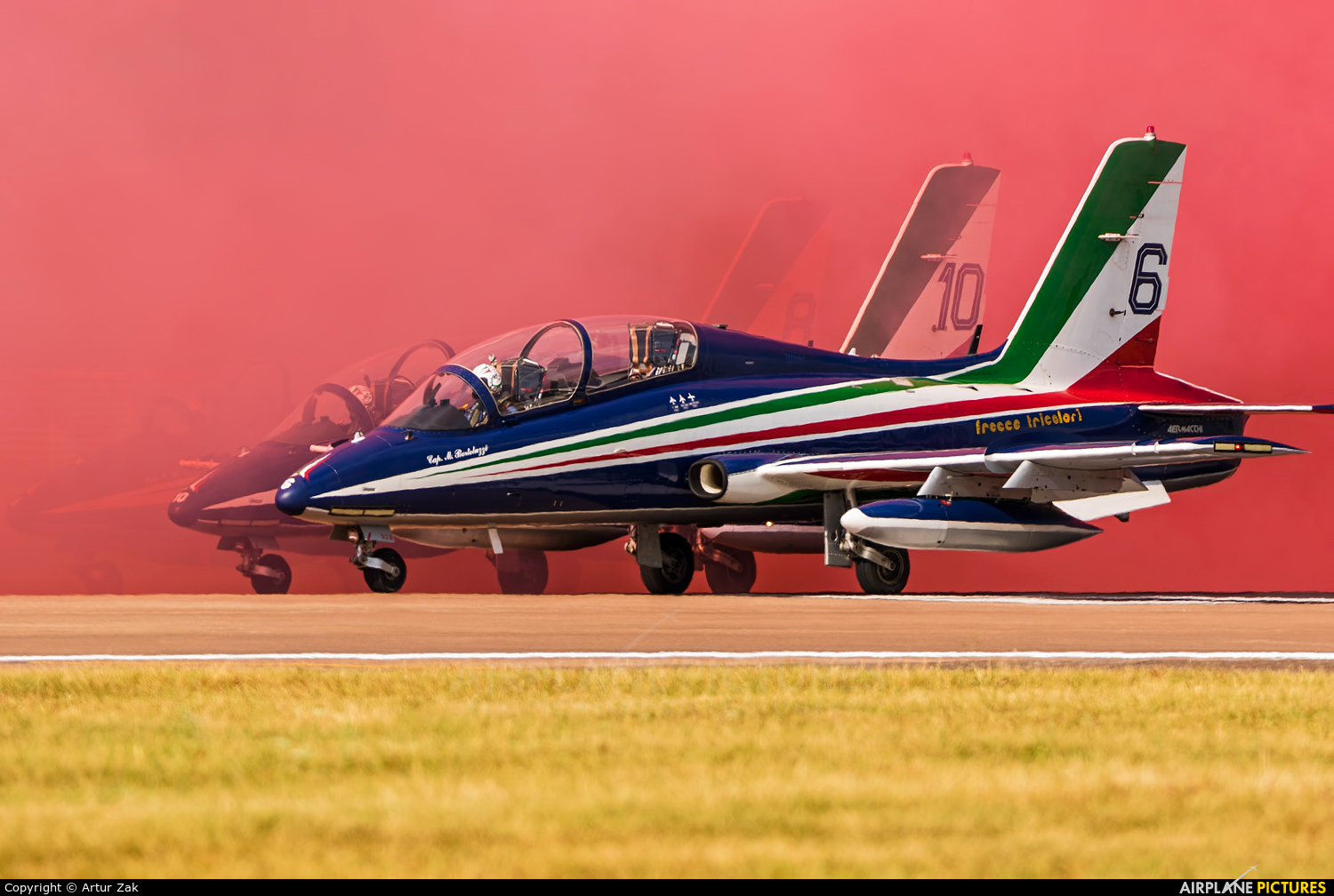 "Italy - Air Force ""Frecce Tricolori"" MM54538 aircraft at Fairford"