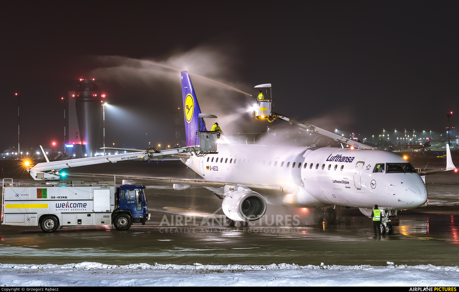 Lufthansa Regional - CityLine D-AECD aircraft at Katowice - Pyrzowice