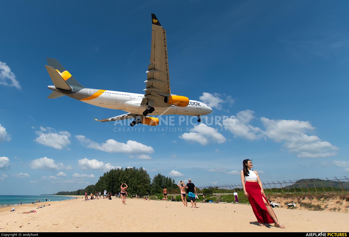 Thomas Cook Scandinavia OY-VKF aircraft at Phuket