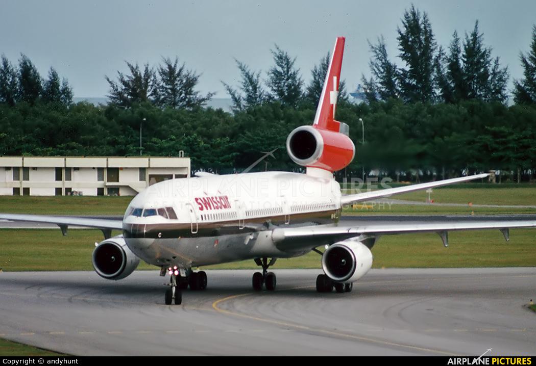 Swissair HB-IHC aircraft at Singapore - Changi