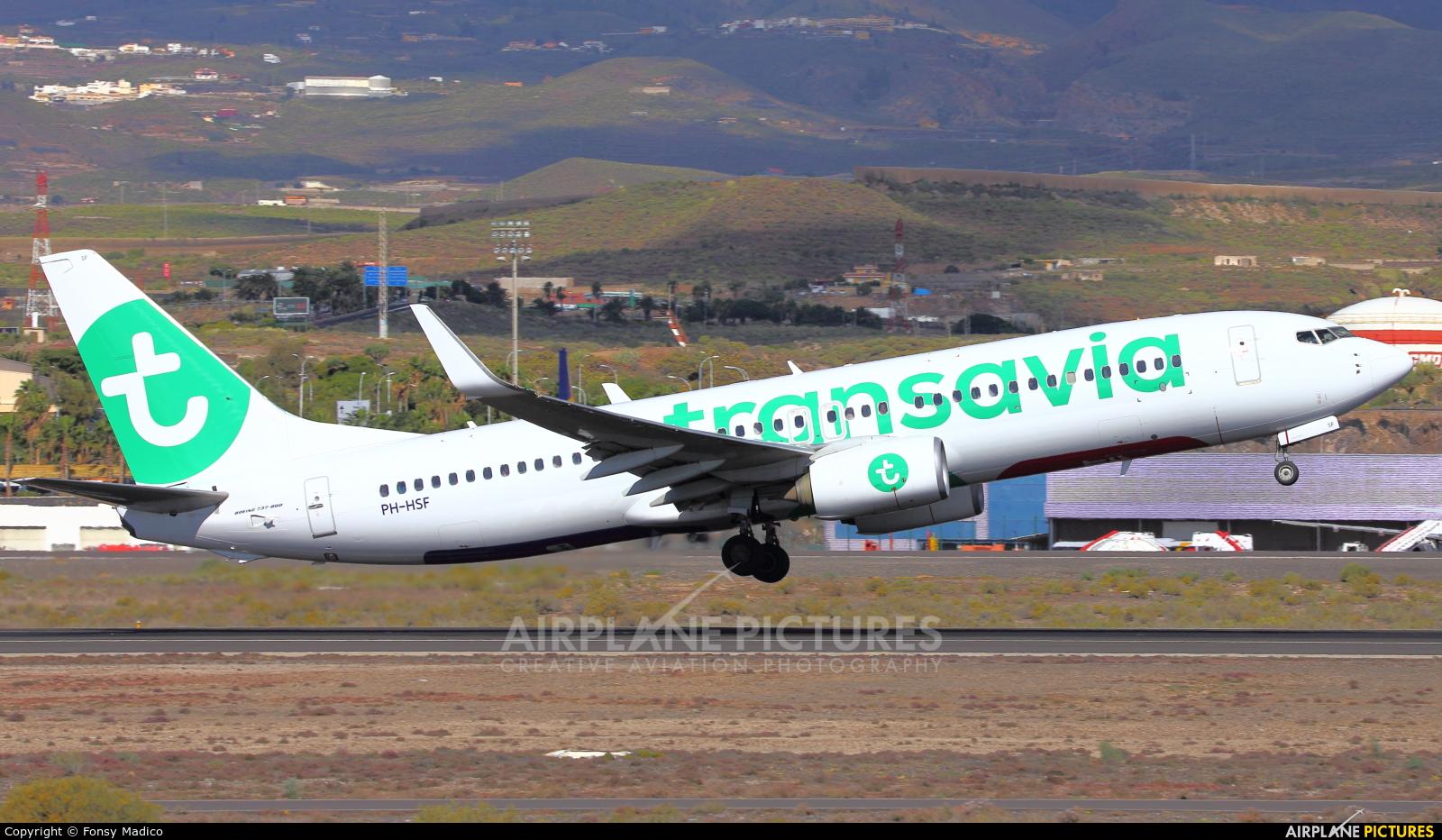 Transavia PH-HSF aircraft at Tenerife Sur - Reina Sofia