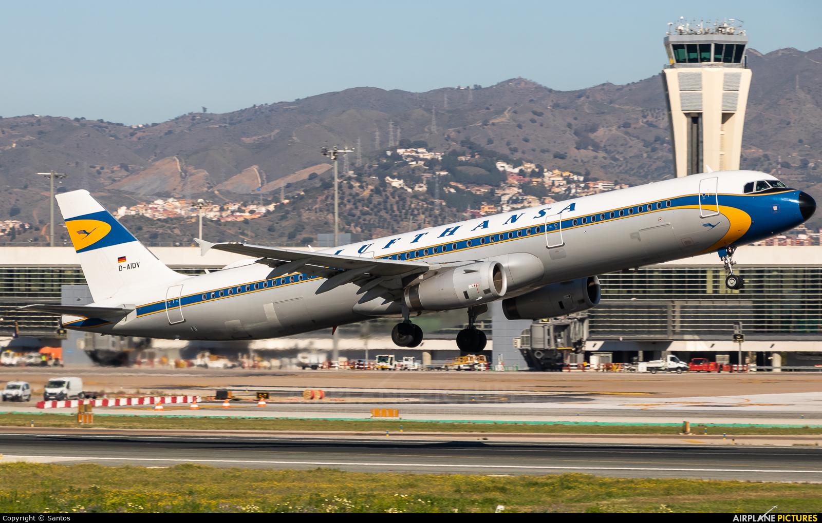 Lufthansa D-AIDV aircraft at Málaga