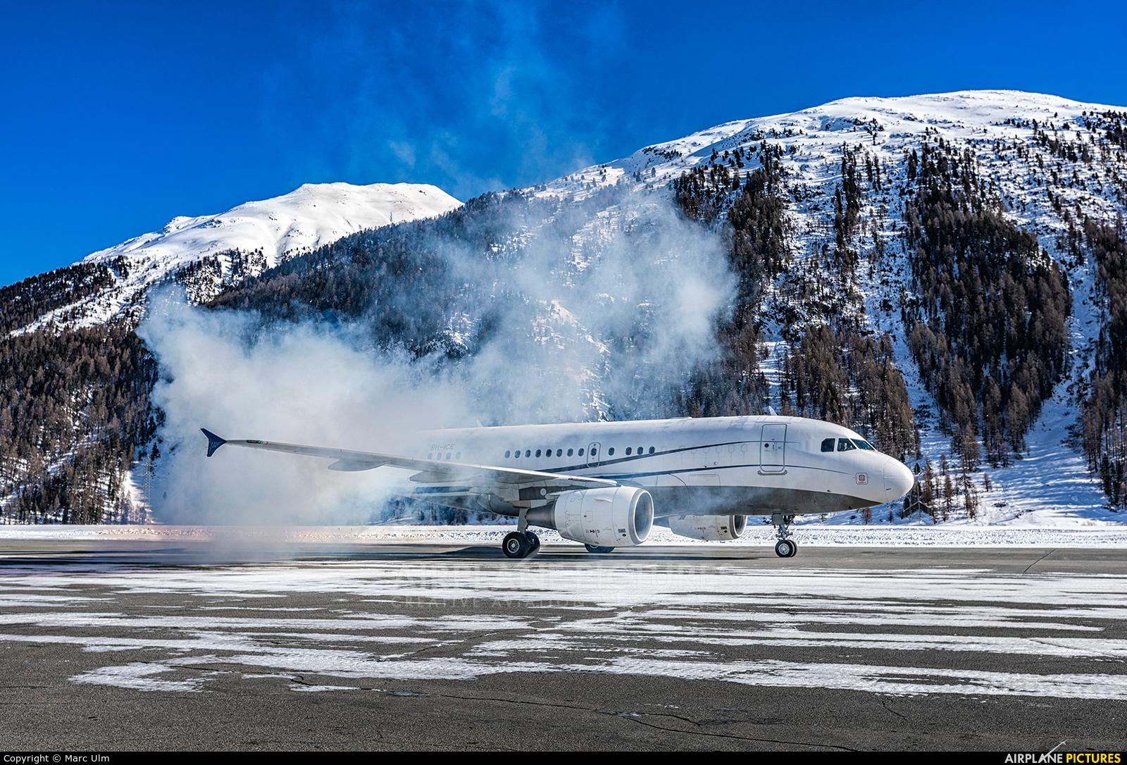 DC Aviation 9H-ICE aircraft at Samedan - Engadin