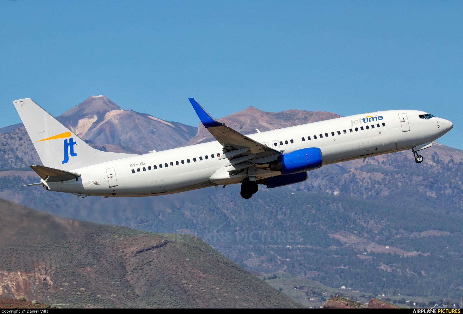 Jet Time OY-JZI aircraft at Tenerife Sur - Reina Sofia