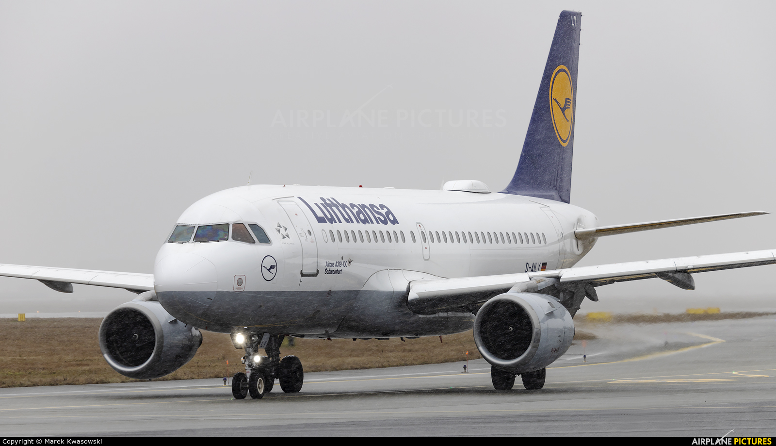 Lufthansa D-AILY aircraft at Warsaw - Frederic Chopin