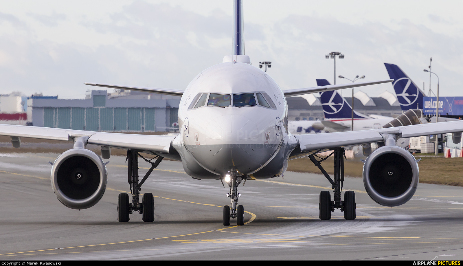 Lufthansa D-AILA aircraft at Warsaw - Frederic Chopin
