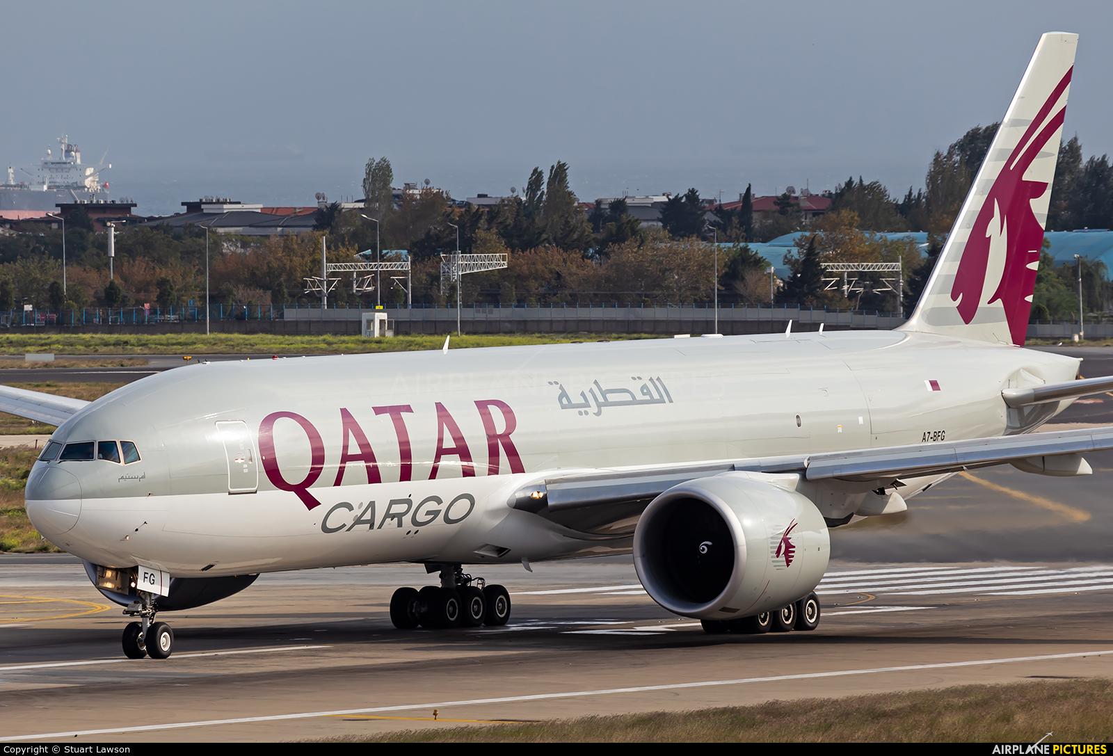 Qatar Airways Cargo A7-BFG aircraft at Istanbul - Ataturk