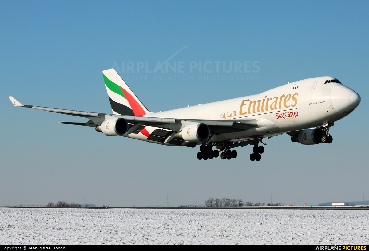 Emirates Sky Cargo OO-THC aircraft at Liège-Bierset