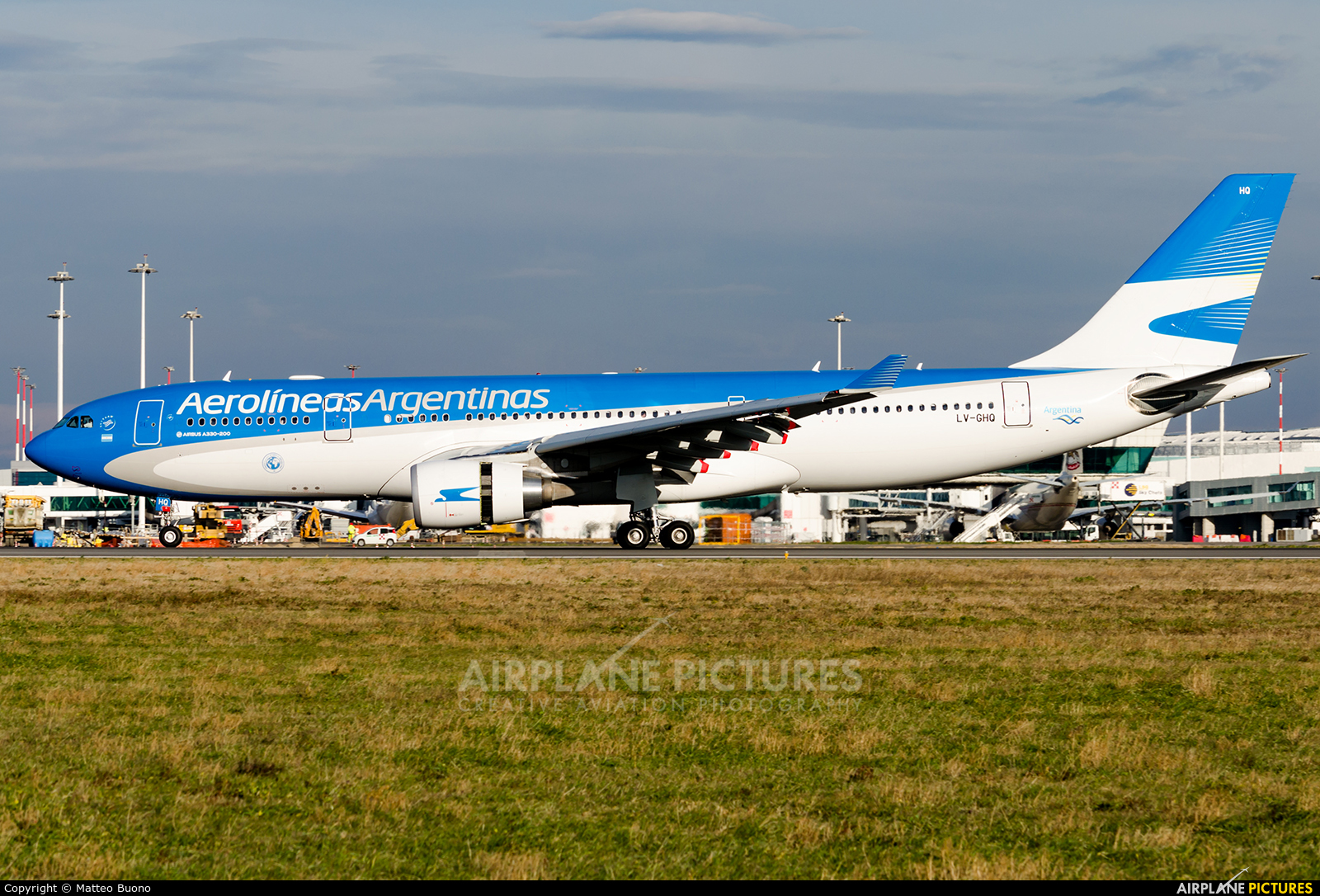 Aerolineas Argentinas LV-GHQ aircraft at Rome - Fiumicino