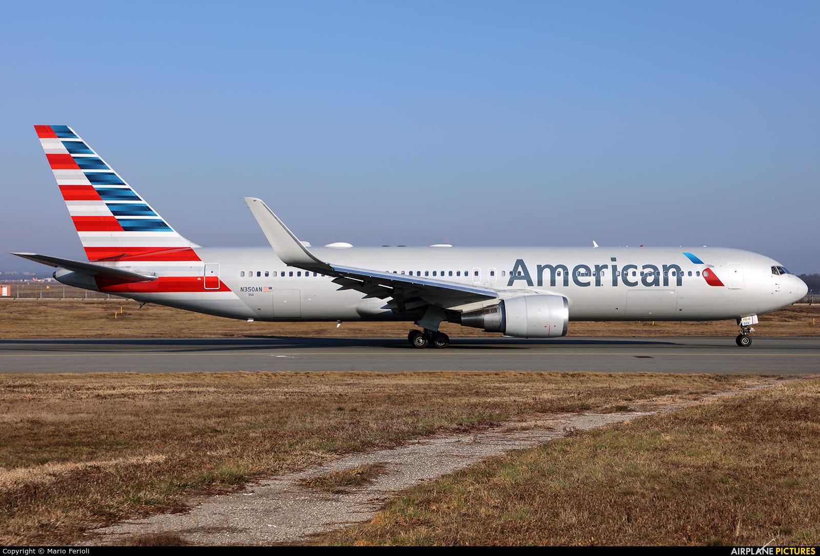 American Airlines N350AN aircraft at Milan - Malpensa