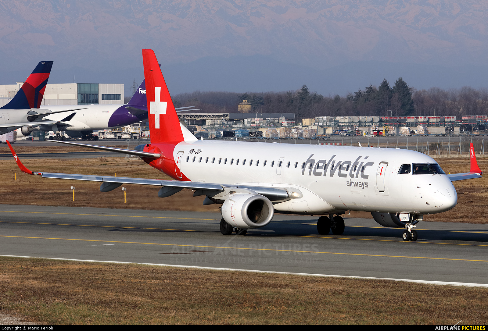 Helvetic Airways HB-JVP aircraft at Milan - Malpensa