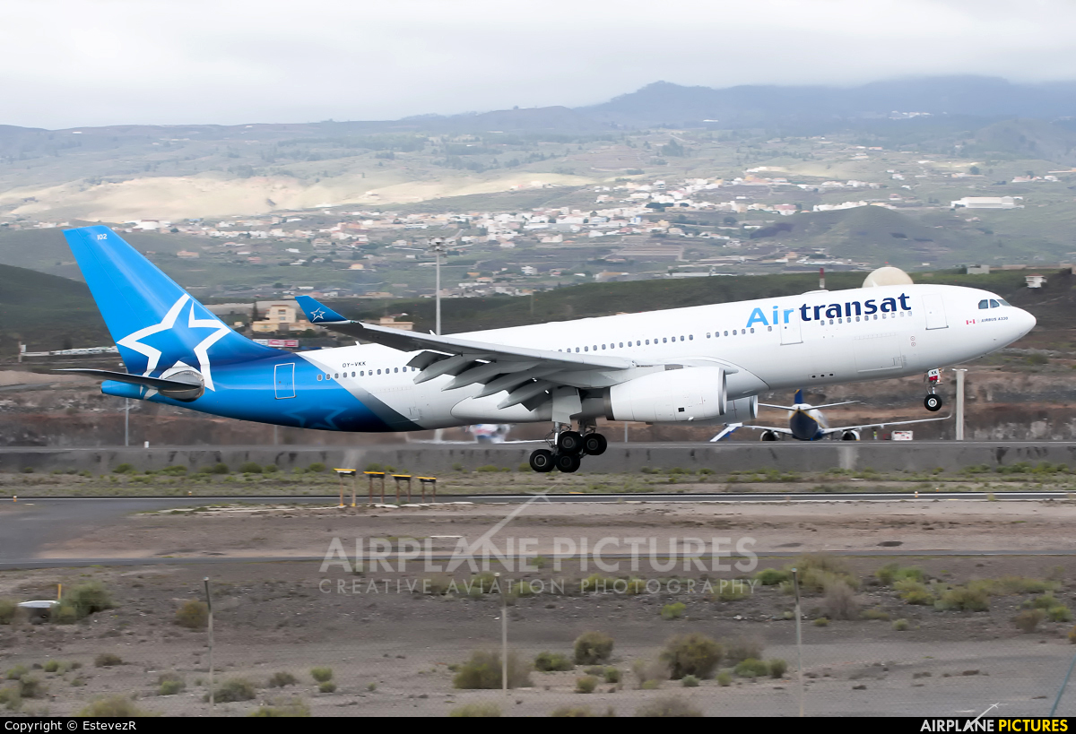 Air Transat OY-VKK aircraft at Tenerife Sur - Reina Sofia