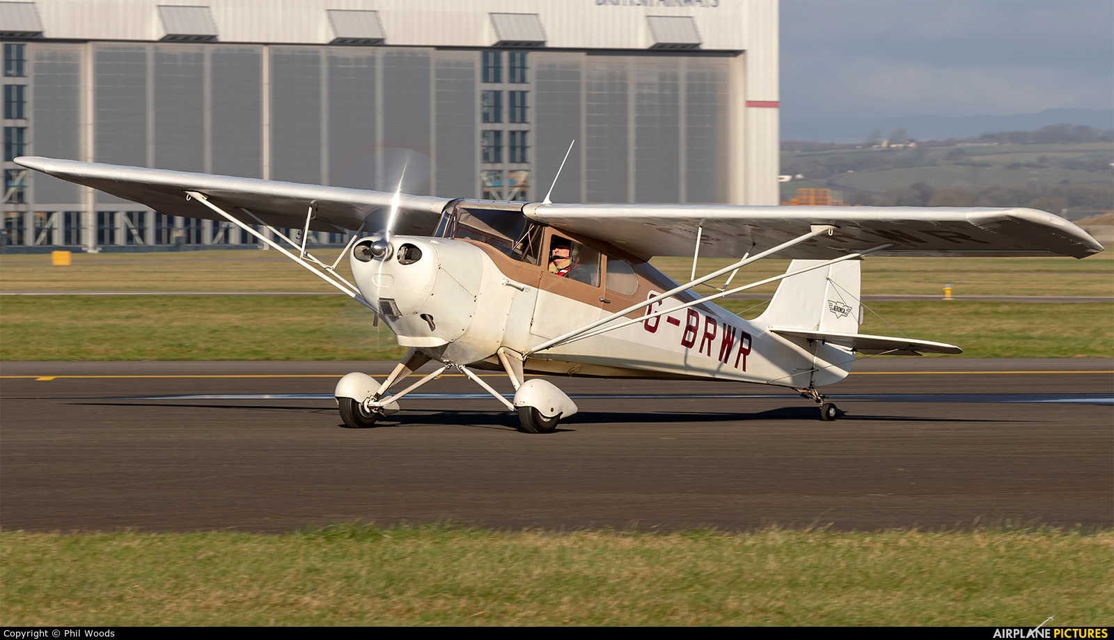 Private G-BRWR aircraft at Cardiff