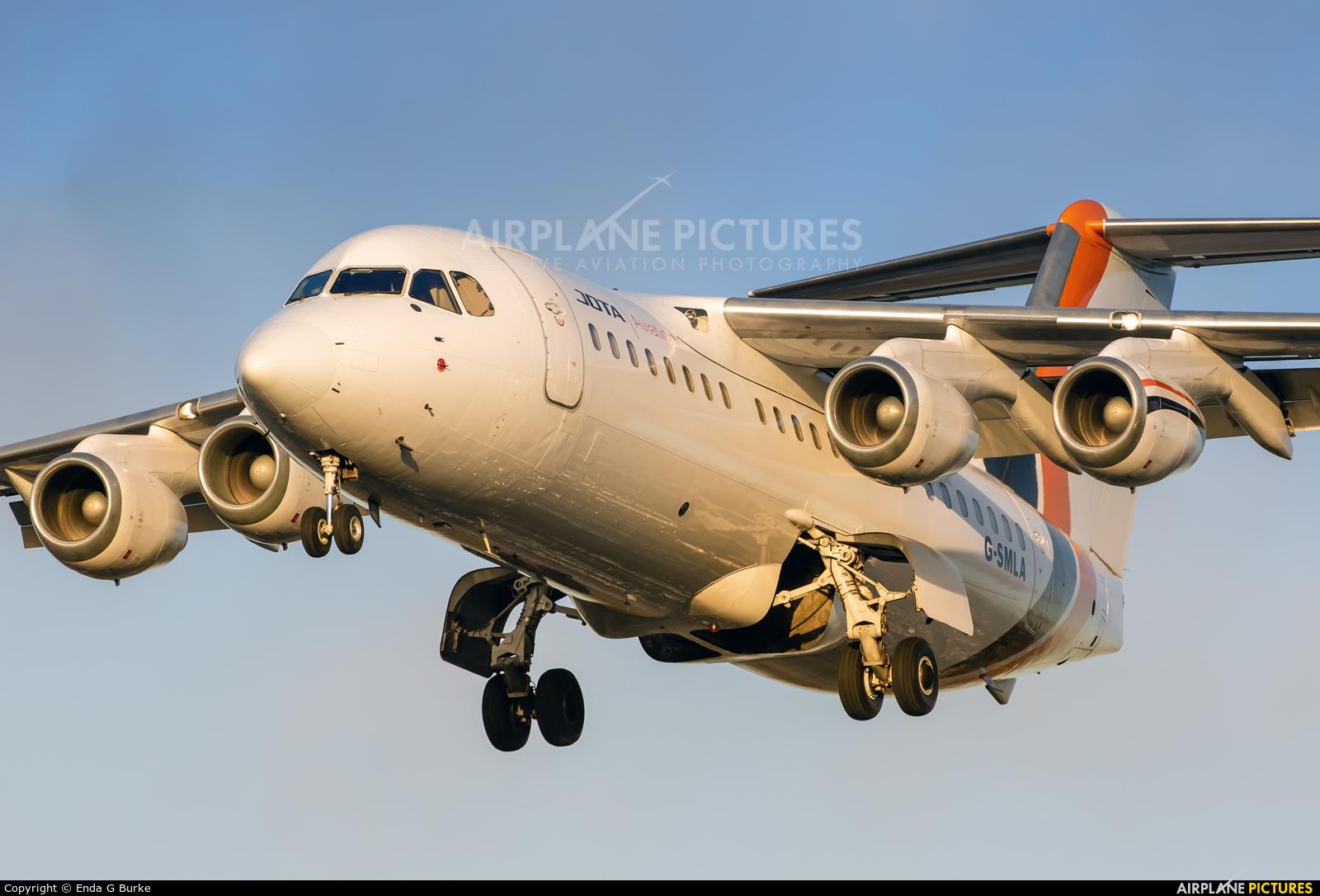 Jota Aviation G-SMLA aircraft at Manchester
