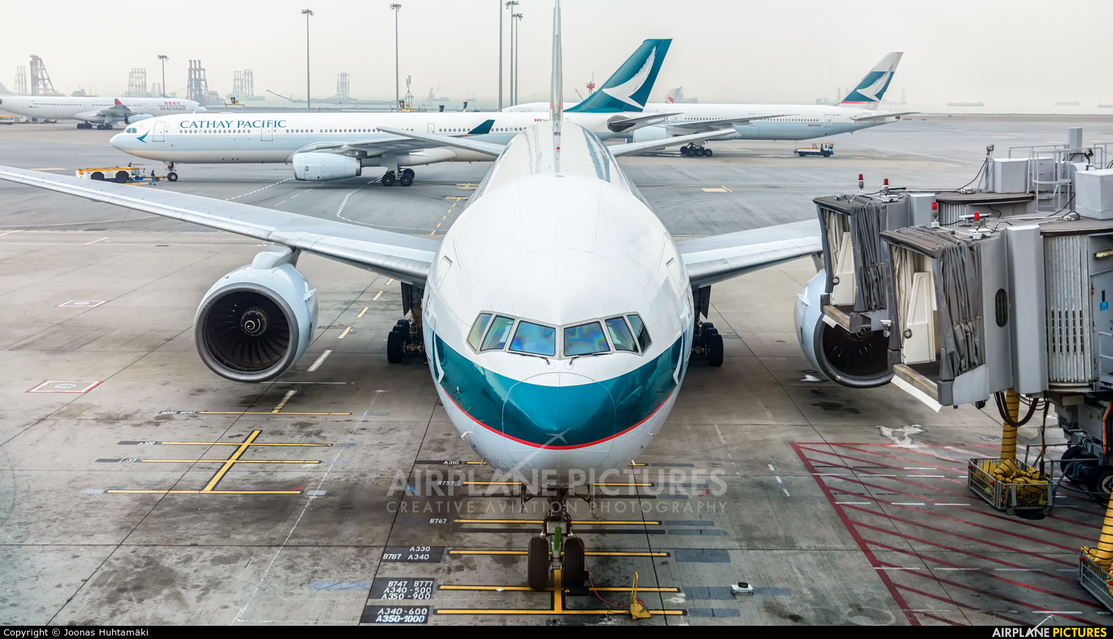 Cathay Pacific B-HNC aircraft at HKG - Chek Lap Kok Intl