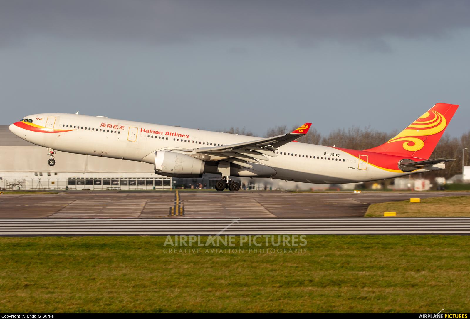 Hainan Airlines B-5905 aircraft at Manchester