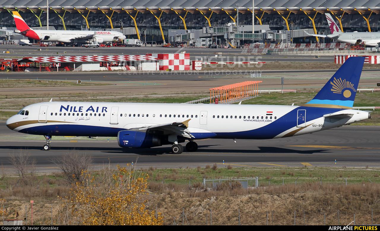 Nile Air SU-BQL aircraft at Madrid - Barajas