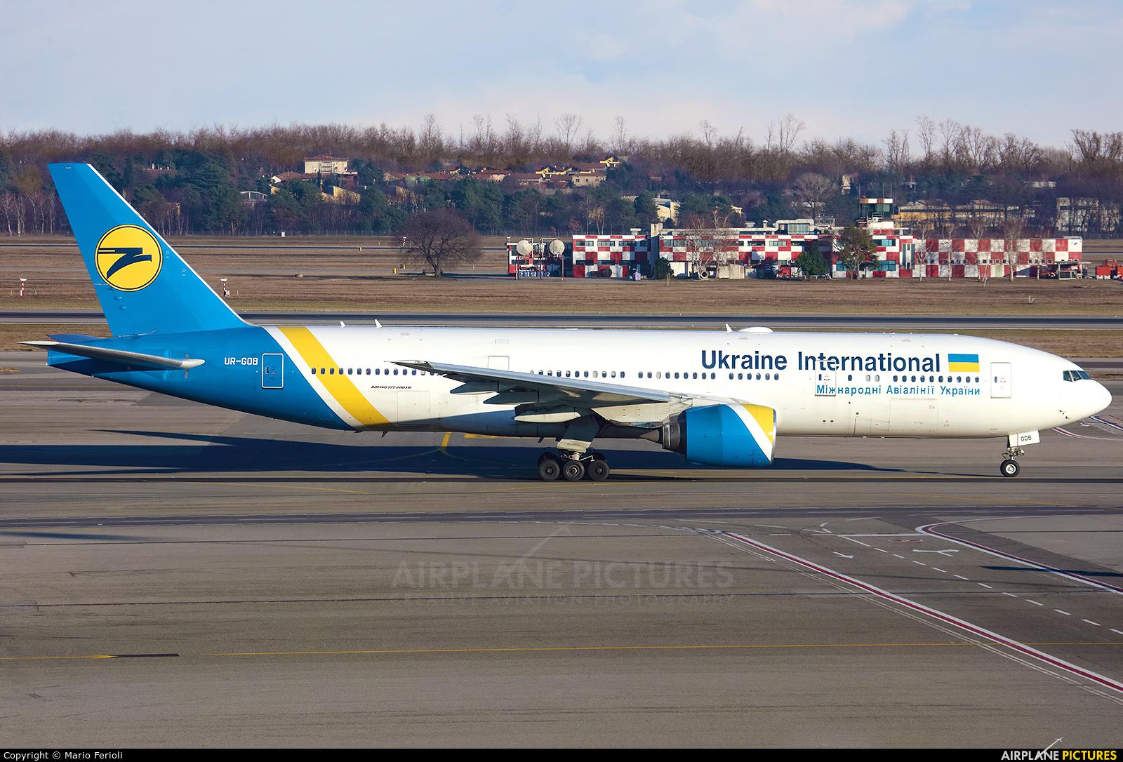 Ukraine International Airlines UR-GOB aircraft at Milan - Malpensa